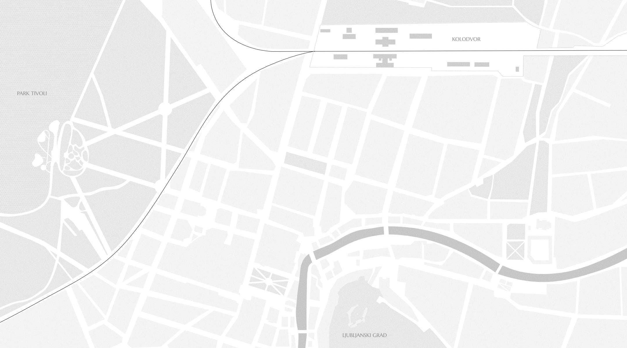 Zemljevid Ljubljane
