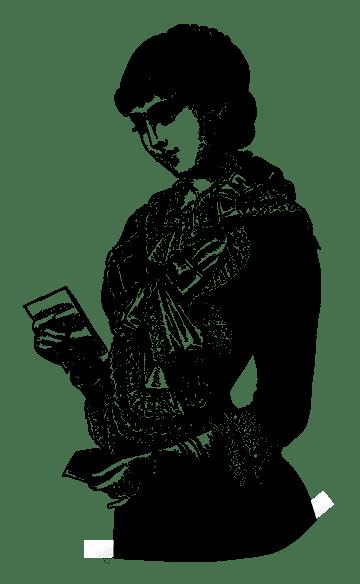 Mademoiselle Madeleine reading letter